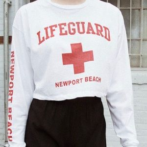 Brandy Melville white lifeguard long sleeve